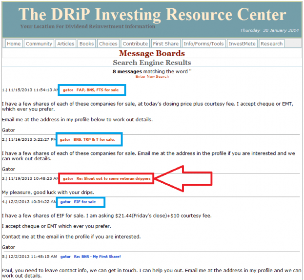 13 - How to buy a share on the DRIP Investing Resource Center's share exchange