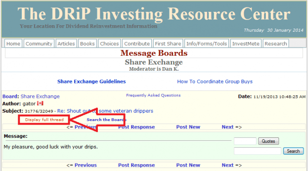 14 - How to buy a share on the DRIP Investing Resource Center's share exchange