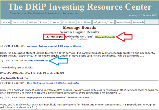 18 - How to buy a share on the DRIP Investing Resource Center's share exchange
