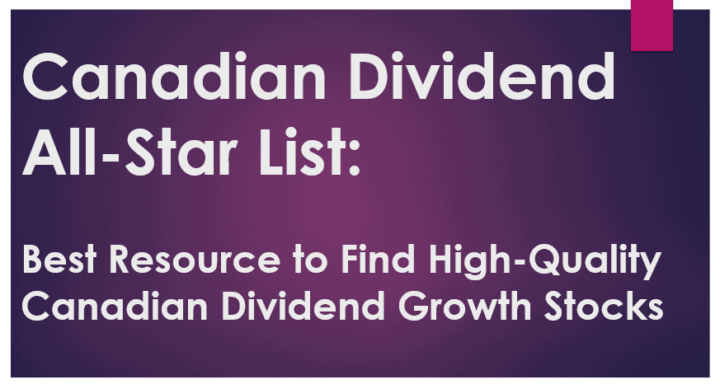 Canadian Dividend All-Star List: Quality Dividend Growth Stocks